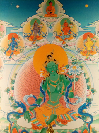 This is the compassionate Green Tara