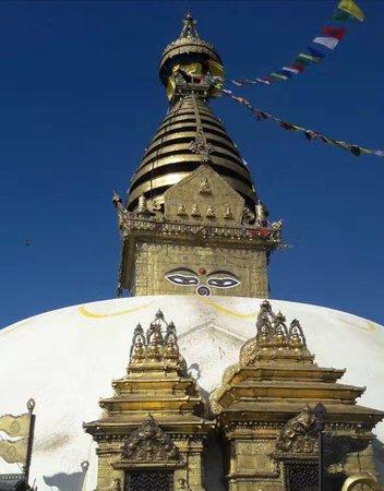 The Iconic Buddha eyes Swayambhunath Stupa