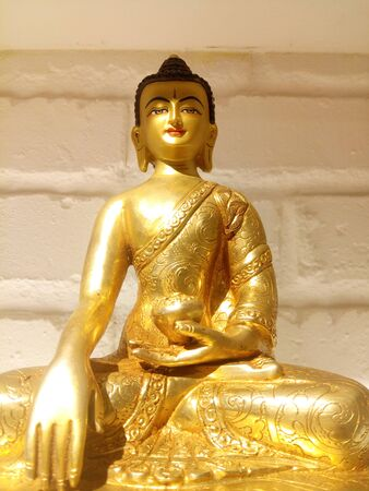 The holy statue of compassionate Shakyamuni Buddha