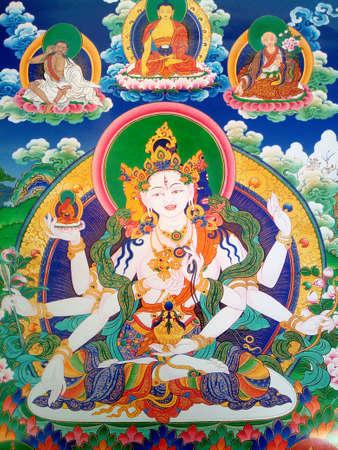 Homage to the Goddess of Ushnishavijaya of longevity in Tibetan Buddhism