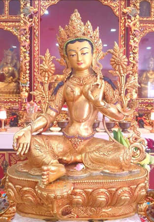 Om Tare Tuttare Ture Soha, Green Tara a female deity, Tibetans called Dolma,she is a Bodhisattva or Buddha of compassion and action. A protector who comes to our aid to relieve us of suffering.