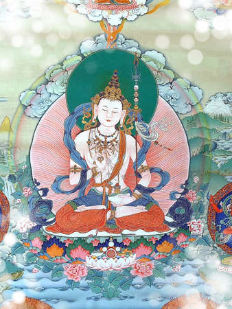 """Guru Rinpoche, he is venerated as a """"second Buddha"""" by adherents of Tibetan Buddhism in Tibet. Legend has it, he was incarnated as an eight years old child appearing in the lake near the present day."""