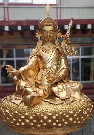 """Guru Rinpoche, he is venerated as a """"2nd Buddha"""" by adherents of Tibetan Buddhism in Tibet. Legend has it, he was incarnated as an 8 years old child in the lake near the Pakistan at the present day."""