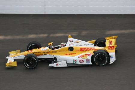 5-14-2012 Ryan Hunter-Reay practice run at Indianapolis Editorial