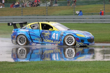 mazda: 7-27-2012 Gt Race at Indianapolis Motor Speedway in rain