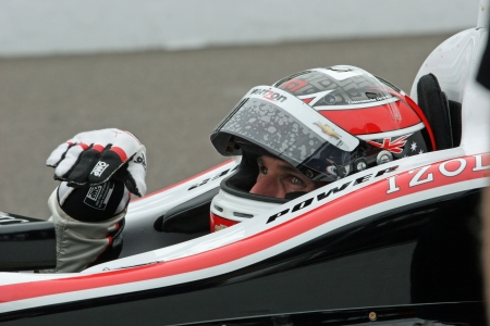 5-12-2012 Will Power at Indianapolis Motor Speedway in pits