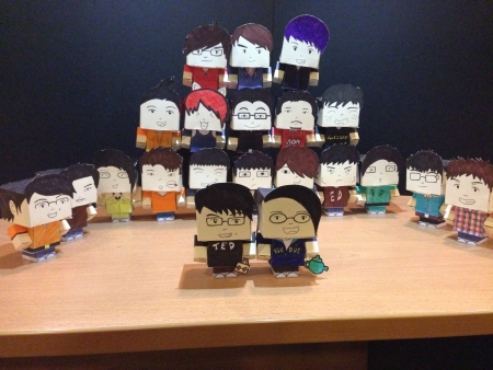 papercraft: A bunch of paper-craft doll