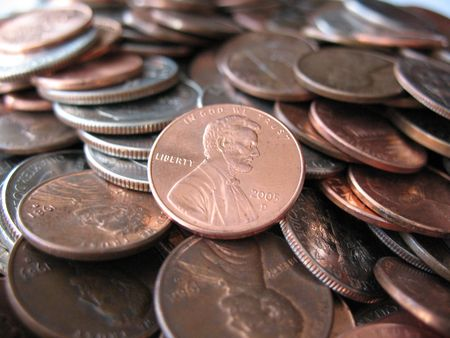 nickle: US Penny Stock Photo