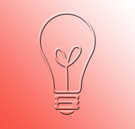 Light Bulb on Red Background photo
