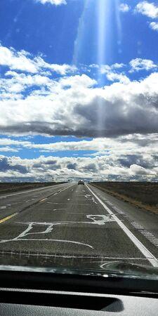 cloudy view in las vegas road trip