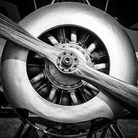 Engine of an old war plane