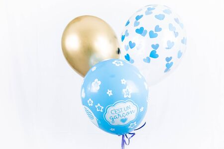 Three blue balloons - Gender Reveal - Its a Boy !