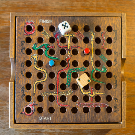 snakes and ladders: Snakes and Ladders wooden game