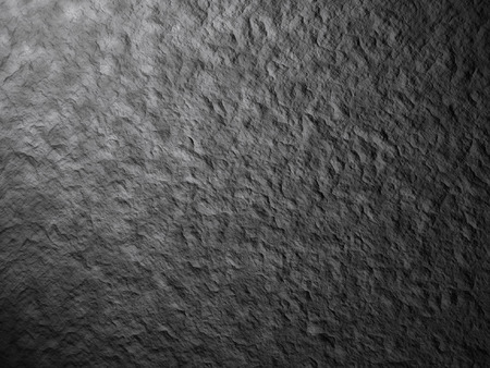 hot spot: Render  - Spotlight shining down on the rough stone floor, background, texture black and white.