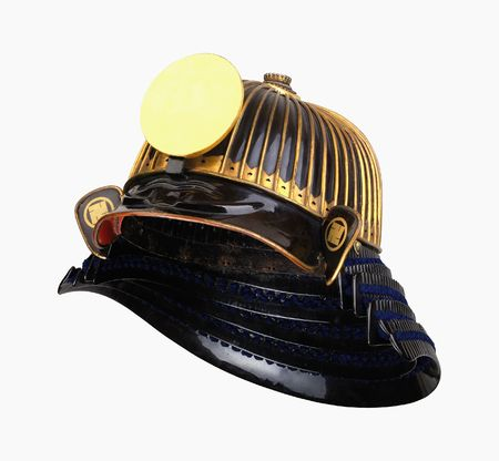 Medieval military samuruai helmet photo