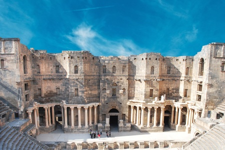amphitheater: Theater of Bosra, Syria  Editorial