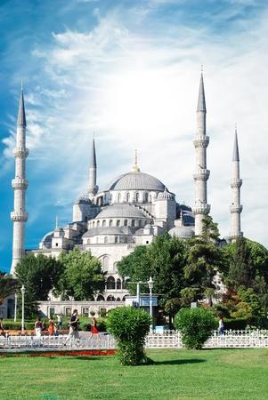 hagia: The Blue Mosque, (Sultanahmet Camii), Istanbul, Turkey