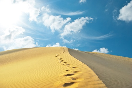 horizon over land: sand desert