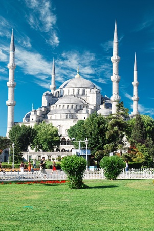 istanbul: The Blue Mosque, (Sultanahmet Camii), Istanbul, Turkey