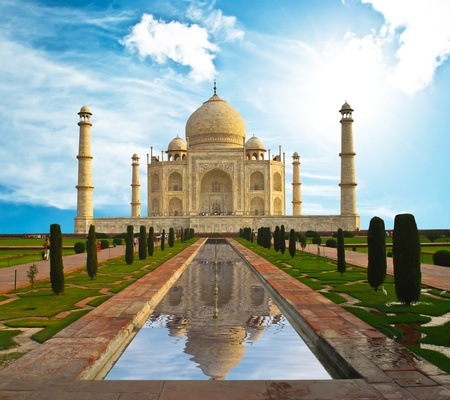 glint: Taj Mahal in India  Stock Photo