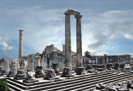view of Temple of Apollo in antique city of Didyma  photo
