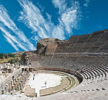 amphitheater: Amphitheater (Coliseum) in Ephesus (Efes) Turkey, Asia