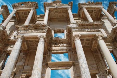 celsius: Facade of ancient Celsius Library in Ephesus, Turkey
