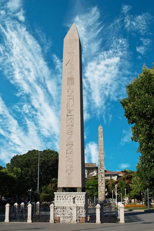 obelisk stone: Obelisk at hippodrome in Istanbul - Turkey