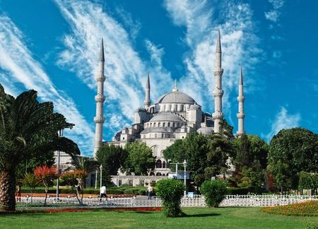 La Mosquée Bleue, (Sultanahmet Camii), Istanbul, Turquie Banque d'images