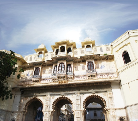 rajput: Udaipur city palace in India