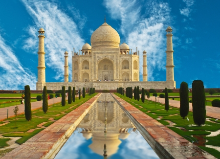 taj: Taj Mahal in India  Stock Photo