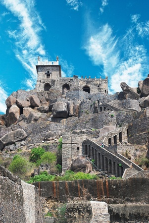Historic Golkonda fort in Hyderabad city India  Stock Photo - 11572851
