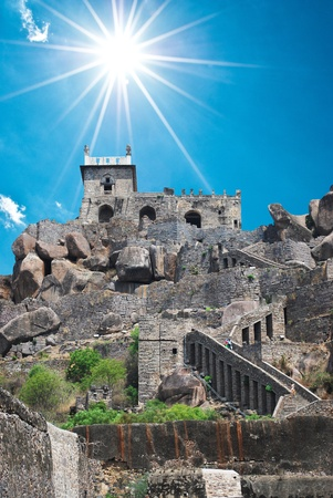 Historic Golkonda fort in Hyderabad city India  Stock Photo - 11572846
