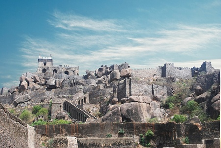 golconda: Historic Golkonda fort in Hyderabad city India