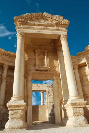 historical periods: Ancient Roman time town in Palmyra, Syria.  Stock Photo