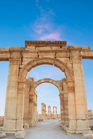 syria: Alte r�mische Zeit Stadt in Palmyra, Syrien. Lizenzfreie Bilder