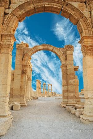syria: Antike r�mische Zeit Stadt in Palmyra, Syrien. Lizenzfreie Bilder