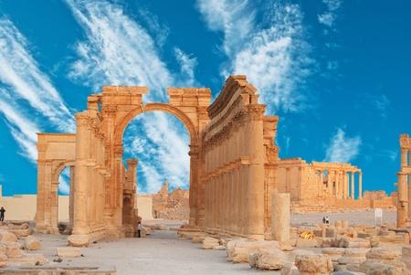 syria: Alte r�mische Zeit Stadt in Palmyra, Syrien. Editorial