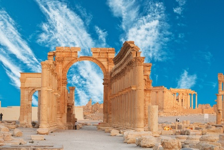 historical periods: Ancient Roman time town in Palmyra, Syria.  Editorial