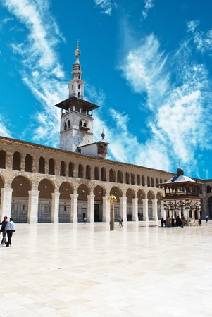 damascus: Syria. Damascus. Omayyad Mosque (Grand Mosque of Damascus)