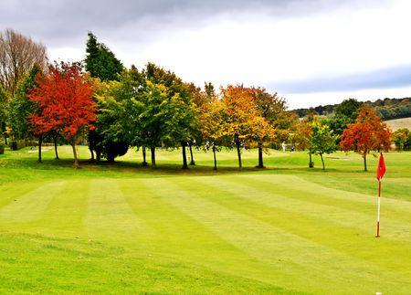 golfing: Autumn golf course