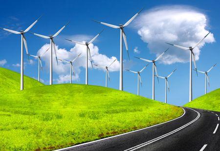 The global wind energy Stock Photo - 6117395