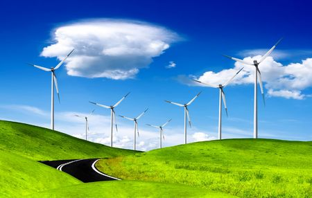 Alternative energy, windmill photo