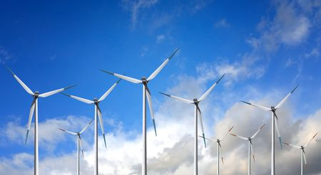 Wind Turbine on cloud Stock Photo - 6306484