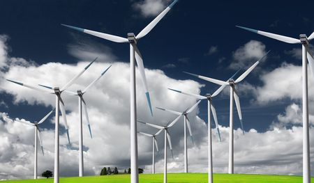 stark: Stark white electrical power generating wind turbines