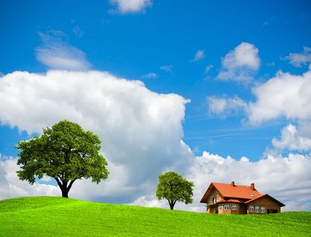 House on the green hill Stock Photo - 6466708