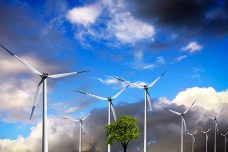 Ecology, Wind turbines  Stock Photo - 6494411