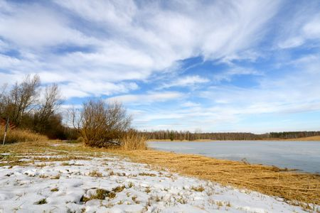 Winter landscape - frozen lake Stock Photo - 6540288