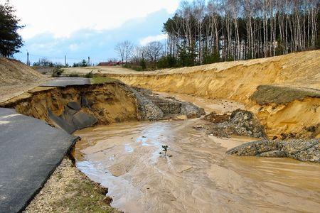 Flooding and destruction photo