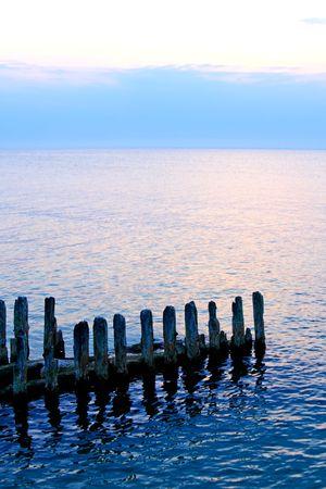 Sunset - coast scene photo